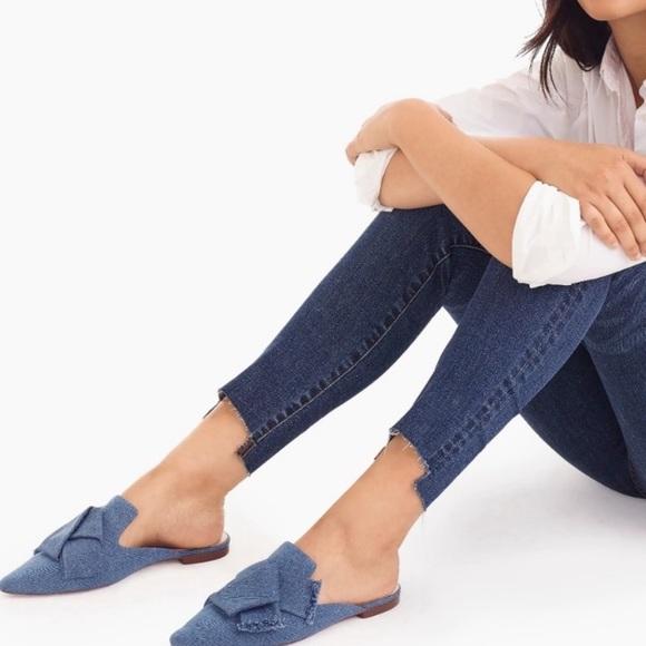 J. Crew Shoes - NEW J. Crew Denim Pointed Toe Flats Slides 7